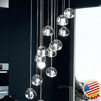 Cluster Pendant G4 LED Modern Cherry Bubble Crystal ball Ceiling Warm Light Lamp