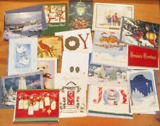 Lot of 18 Christmas Holiday Cards + Envelopes; Animals, Scenes, Doves, Wisemen +