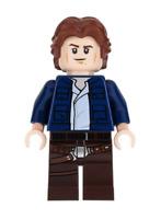 Lego Han Solo 75192 Wavy Hair Millennium Falcon Star Wars Minifigure