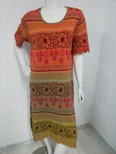 Gudrun Sjoden knited dress shirt dress size L 100% Cotton floral