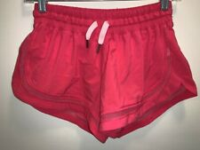 LULULEMON Make A Move running shorts mesh panels sz 6 pink