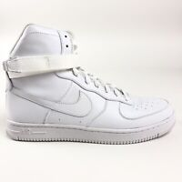 Nike Womens Air Feather High White Shoes Size 9.5 Strap Retro 407904-100