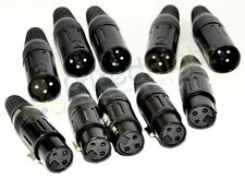 10 XLR 3 Pin 5 Male 5 Female High Quality Microphone Cable Plug End Connectors