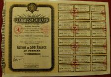French 500 Fr. bond Le Chausson Gaillard - The Gaillard Shoe, 1927 with coupons