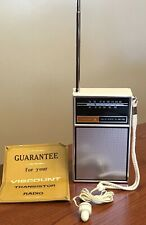 VTG Viscount Solid State 15 Transistor AM FM Pocket Radio 12608 w/Earbud EUC
