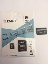 8 GB MicroSD Emtec Classic Class 10 Full HD plus ProDuo Adapter für Sony PSP