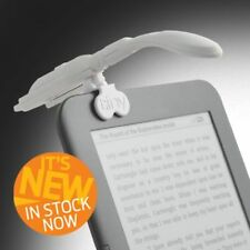NEW! If Really Tiny LED Night Reading Book Light Grey with E-Reader Adapter