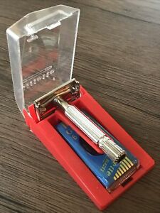 NOS Unused VTG 1958 D3 GILLETTE Super Speed TV Special Double Edge Safety Razor