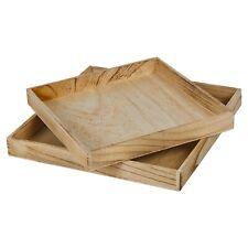2 Shabby Chic Wooden Serving Trays Set Platter Decor Food Tea Coffee Dinner Bar