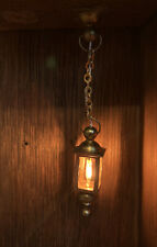 1:12 Dollhouse Miniature Clare Bell Brass Hanging Coach Lamp Electric Light