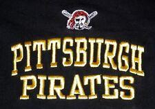 Vtg LEE SPORT Pittsburgh Pirates Embroidered Baseball Black T Shirt Mens L