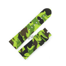 24mm Green CAMO Waterproof Silicone Rubber Watch Band Strap Belt For LUMINOR