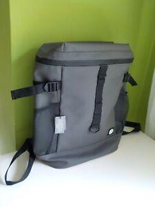 Primark Global Supply Neopren Design Rucksack Backpack grau Gummi gay LKW-Plane