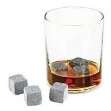 Soapstone GLACIER ROCKS 6-pc Set Chills Your Drink No Diluting True Gentleman