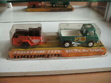 Tootsietoy Hitch Ups Truck with trailer in Green/Orange in box