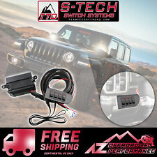 S-Tech 4 Red Switch System w/Relays & Fuses for 2018 Jeep Wrangler JL