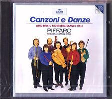 Canzoni e danze vento music from Rinascimento ITALY piffaro CD Robert Wiemken NUOVO