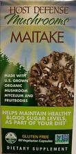 Fungi Perfecti Host Defense, Maitake 60 capsules, Organic, Blood Sugar Support