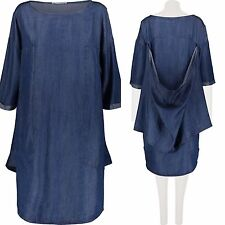 Amazing Womens Denim Smock Design Pocket 100% Tencell Dress Size UK 10 EUR 36