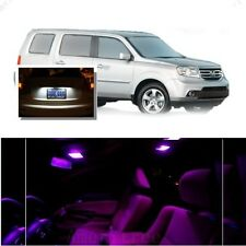 For Honda Pilot 2006-2008 Pink LED Interior Kit + Xenon White License Light LED