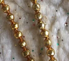 """20 Pieces Vintage  5/16"""" Gold Faceted Mercury Glass Beads for Jewelry, Crafting"""