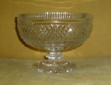 Waterford Crystal Footed Bowl Compote Centerpiece Earlier Complex Pattern 7.5""