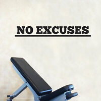 Vinyl Wall Art Decal - No Excuses - Inspirational Quote Abstract Wall Art 5*x36*