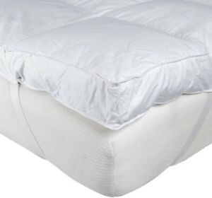 """10cm 4"""" Inch Thick Extra Deep Luxury Hotel Quality King Bed Mattress Topper New"""