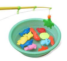 Magnetic Fishing Toys Rod Model Net 10 Fish Kid Children Baby Bath Time Fun Game