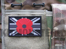 Large Union Flag VCRO Patch with Remembrance Poppy badge Mono Police Colours