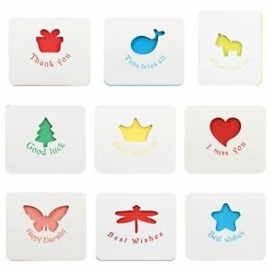 Thank You Card Cute Creative Greeting Card with Envelope & Stickers Hollow Out