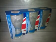 3 x Coca Cola 2012 London Olympic Games Glasses Blue Wristbands McDonalds New