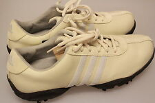 Adidas Ladies Isabelle Golf Shoes Rich Cream/Grey Leather Upper Z Traxion 6 1/2