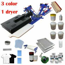 Micro Adjust 3 Color Silk Screen Printing Kit Printer Amp Ink Coat Diy Material