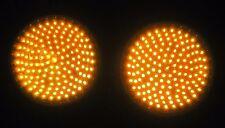 "2 - 8"" Dialight Yellow Ball LEDs Traffic Signal Light"