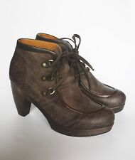 COCLICO NIKO CLOG BOOTIES 37 Anthropologie Shoes Lace Up Ankle Boots 6.5 7 Heels