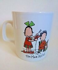 """The Hair Stylist"" Coffee Mug 1980 Distinctive Designs Staffordshire England"