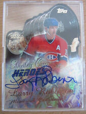 Larry Robinson Stanley Cup Heroes Montreal Canadiens 2000 Autographed Refractor