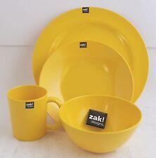 ZAK design BBQ Set Teller Suppenteller Becher Müslischale Gelb Outdoor Camping