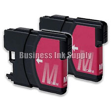 2 MAGENTA New LC61 Ink Cartridge for Brother Printer DCP-585CW MFC-J630W LC61M