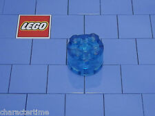 Lego 3941 2x2 Trans Light Blue Brick Round X 2 NEW