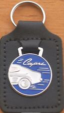Ford Capri Keyring Key Ring - badge mounted on a leather fob