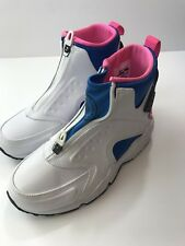 03c8cd24120d NEW NIKE AIR HUARACHE RUN MID 807313-100 White Black Soar Pink Pow Women s  Sz