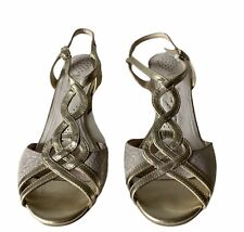 Van Dal Sandals Leather Strappy Wedge Shoes UK 5  Eu 38/39