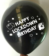 10 LOCKDOWN BIRTHDAY BALLOONS - Adult Rude Balloon Funny Novelty Gift His Her