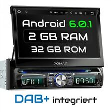 DAB+ AUTORADIO MIT ANDROID 6.0.1 NAVI NAVIGATION DVD USB SD WIFI BLUETOOTH 1DIN