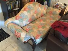 Antique Victorian Carved Wooden Long Sofa Chaise Multi Color No Shipping Pick Up