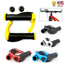 1 Pair MTB Bar End Handlebar Grips Lock-On End Bicycle Mountain Bike Ergonomic