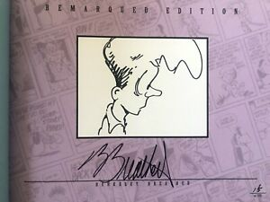 Berke Breathed signed auto Bloom County Library V5 book BINKLEY remarqued 15/100