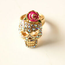 New Betsey Johnson Skull Cocktail Ring Gift Fashion Women Party Holiday Jewelry